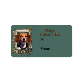 Fathers Day - Stone Paws - Beagle Label