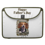Fathers Day - Stone Paws - Beagle Sleeves For MacBooks