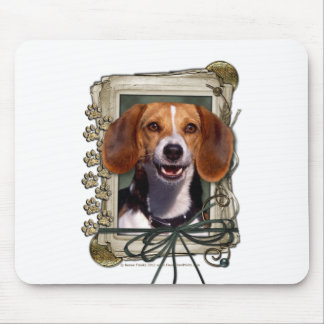 Fathers Day - Stone Paws - Beagle Mouse Pad