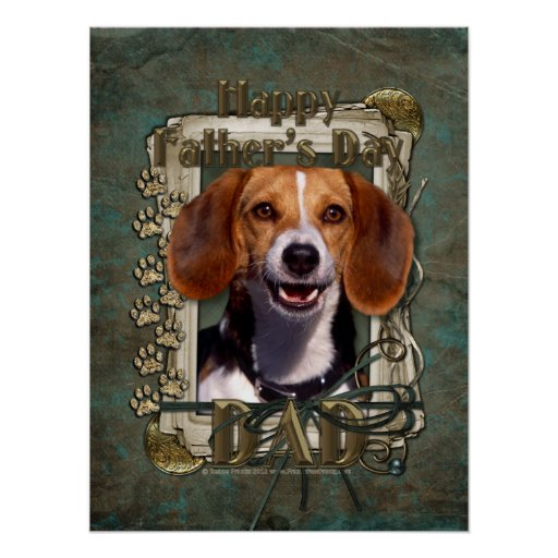 Fathers Day - Stone Paws - Beagle Print