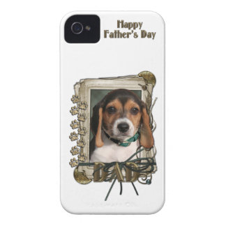 Fathers Day - Stone Paws - Beagle Puppy iPhone 4 Case