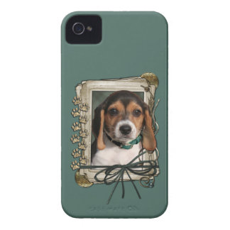 Fathers Day - Stone Paws - Beagle Puppy iPhone 4 Case-Mate Cases