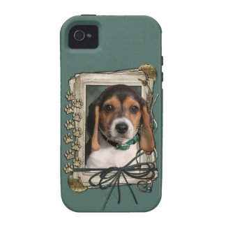 Fathers Day - Stone Paws - Beagle Puppy Case-Mate iPhone 4 Case