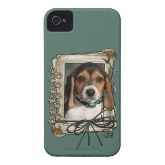 Fathers Day - Stone Paws - Beagle Puppy iPhone 4 Cover