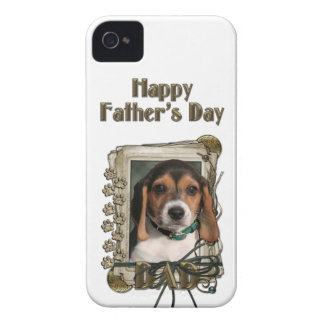 Fathers Day - Stone Paws - Beagle Puppy iPhone 4 Cases