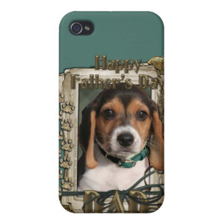 Fathers Day - Stone Paws - Beagle Puppy - Dad iPhone 4/4S Cover