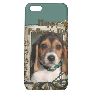 Fathers Day - Stone Paws - Beagle Puppy - Dad Cover For iPhone 5C