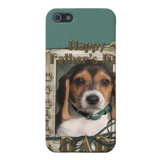 Fathers Day - Stone Paws - Beagle Puppy - Dad iPhone 5 Cases