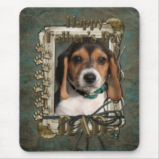 Fathers Day - Stone Paws - Beagle Puppy - Dad Mouse Pad