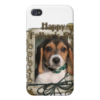 Fathers Day - Stone Paws - Beagle Puppy iPhone 4 Covers