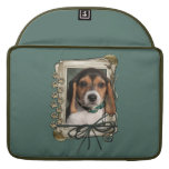 Fathers Day - Stone Paws - Beagle Puppy MacBook Pro Sleeve