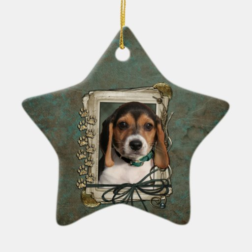 Fathers Day - Stone Paws - Beagle Puppy Ornaments