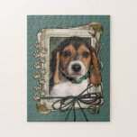 Fathers Day - Stone Paws - Beagle Puppy Jigsaw Puzzles
