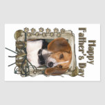 Fathers Day - Stone Paws - Beagle Rectangle Stickers