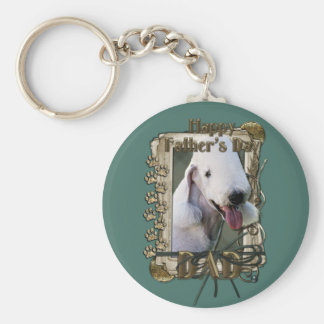 Fathers Day - Stone Paws - Bedlington Terrier -Dad Keychains