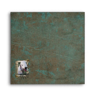Fathers Day - Stone Paws - Bedlington Terrier Envelope