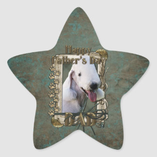 Fathers Day - Stone Paws - Bedlington Terrier Star Sticker
