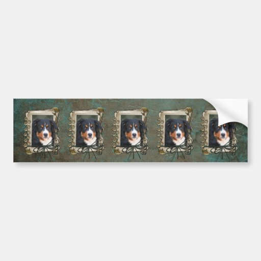Fathers Day - Stone Paws - Bernese Mountain Dog Bumper Sticker