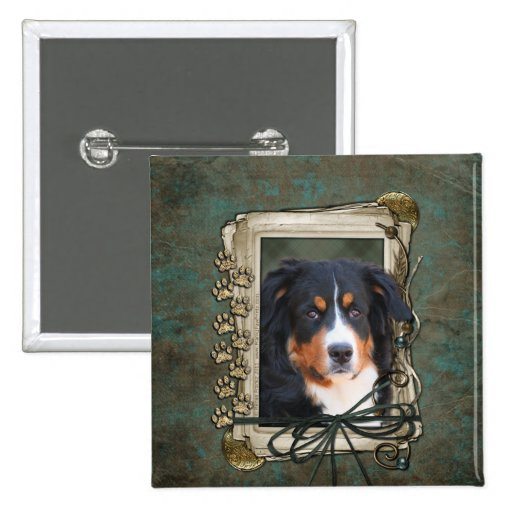 Fathers Day - Stone Paws - Bernese Mountain Dog Pins