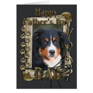 Fathers Day - Stone Paws - Bernese Mountain Dog Card