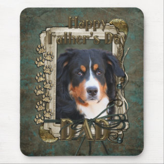 Fathers Day - Stone Paws -Bernese Mountain Dog Dad Mouse Pad