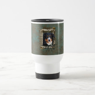 Fathers Day - Stone Paws - Bernese Mountain Dog 15 Oz Stainless Steel Travel Mug
