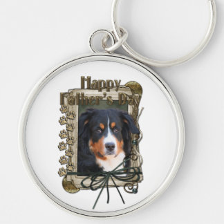 Fathers Day - Stone Paws - Bernese Mountain Dog Silver-Colored Round Keychain