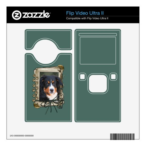 Fathers Day - Stone Paws - Bernese Mountain Dog Decals For Flip Ultra II