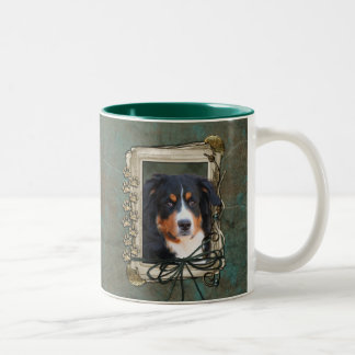 Fathers Day - Stone Paws - Bernese Mountain Dog Two-Tone Coffee Mug