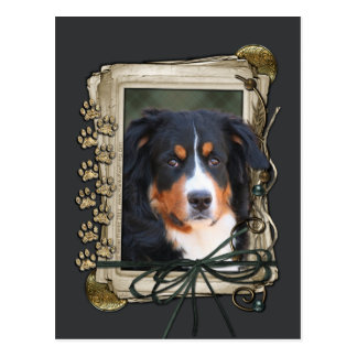 Fathers Day - Stone Paws - Bernese untain Dog Postcard