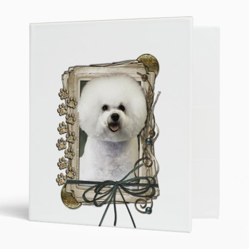 Fathers Day - Stone Paws - Bichon Frise 3 Ring Binders
