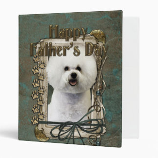 Fathers Day - Stone Paws - Bichon Frise 3 Ring Binder