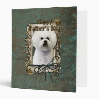 Fathers Day - Stone Paws - Bichon Frise Vinyl Binder