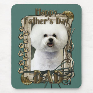 Fathers Day - Stone Paws - Bichon Frise - Dad Mouse Pad