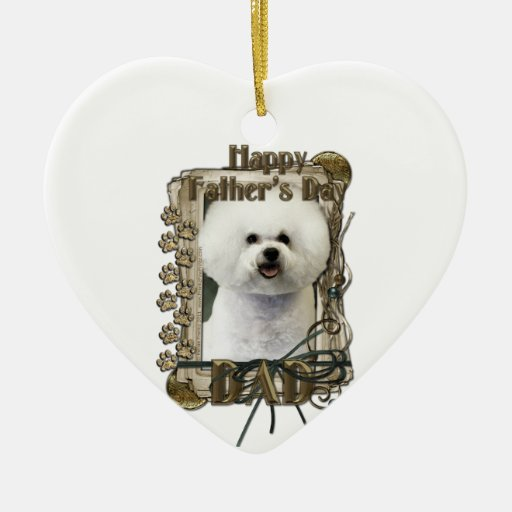 Fathers Day - Stone Paws - Bichon Frise - Dad Christmas Ornament