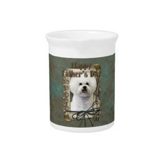 Fathers Day - Stone Paws - Bichon Frise Drink Pitchers