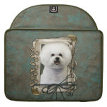 Fathers Day - Stone Paws - Bichon Frise Sleeve For MacBooks