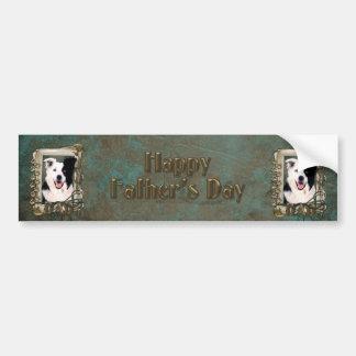 Fathers Day - Stone Paws - Border Collie Car Bumper Sticker