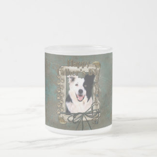 Fathers Day - Stone Paws - Border Collie Frosted Glass Coffee Mug
