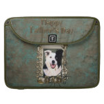 Fathers Day - Stone Paws - Border Collie MacBook Pro Sleeve