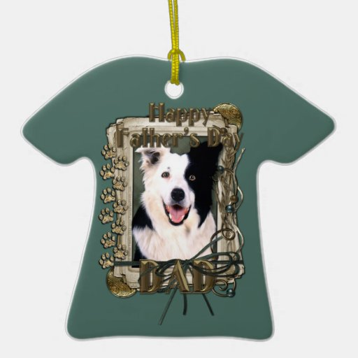 Fathers Day - Stone Paws - Border Collie Christmas Ornament