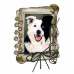 Fathers Day - Stone Paws - Border Collie Photo Sculptures