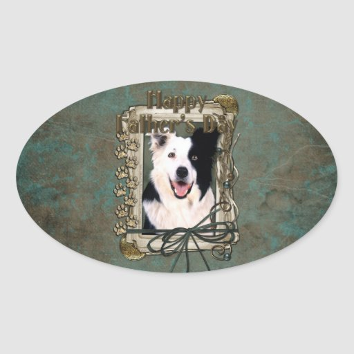 Fathers Day - Stone Paws - Border Collie Sticker