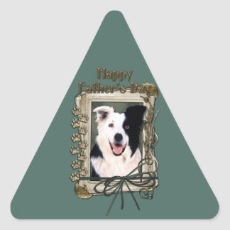 Fathers Day - Stone Paws - Border Collie Triangle Sticker
