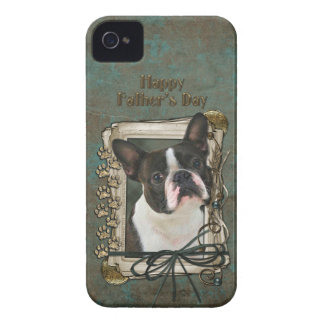 Fathers Day - Stone Paws - Boston Terrier Case-Mate iPhone 4 Cases