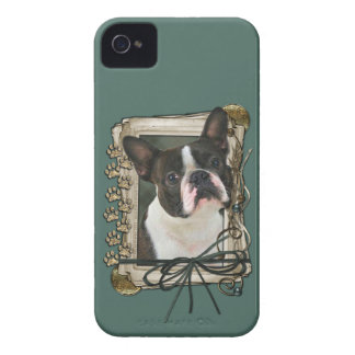 Fathers Day - Stone Paws - Boston Terrier Case-Mate iPhone 4 Case