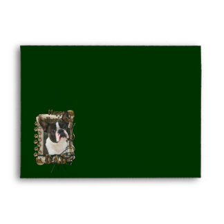 Fathers Day - Stone Paws - Boston Terrier - Dad Envelope