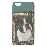 Fathers Day - Stone Paws - Boston Terrier - Dad iPhone 5C Cases