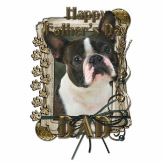 Fathers Day - Stone Paws - Boston Terrier - Dad Statuette
