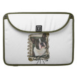 Fathers Day - Stone Paws - Boston Terrier MacBook Pro Sleeve